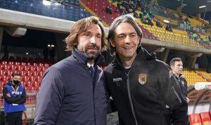 Andrea Pirlo Filippo Inzaghi Benevento Juventus Twitter e1608570162892
